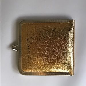 Vintage Gold Compact Mirror